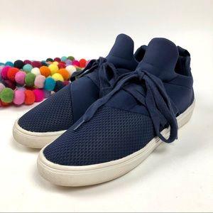 Steve Madden Lancer Athleisure Sneaker Sz 8.5 Navy